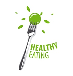 Logo fork for a healthy diet vector