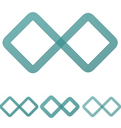 Teal line infinite logo design set vector