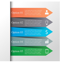 Arrows infographic template vector
