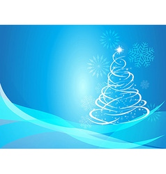 Christmas curve tree background vector image vector image