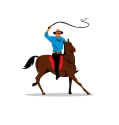 Cowboy and horse cartoon vector
