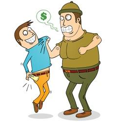 debt collector vector image vector image