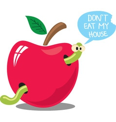 don't eat my house vector image vector image