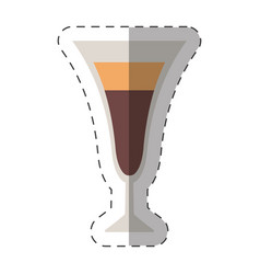 Glass cup coffee cockctail vector