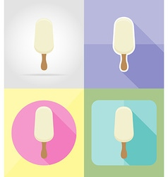 ice cream flat icons 03 vector image vector image