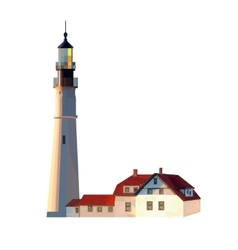 Image of lighthouse on a white background vector image