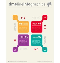 infographic Web Template for cycle diagram or vector image