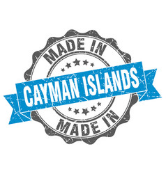 Made in cayman islands round seal vector