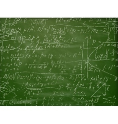 Math formulas on a blackboard eps 10 vector