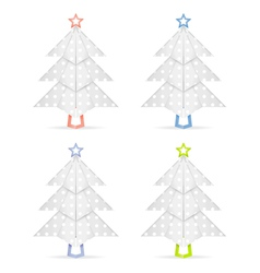 Origami christmas trees vector