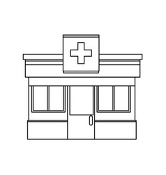 pharmacy drugstore building front view symbol vector image