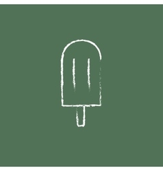 Popsicle icon drawn in chalk vector