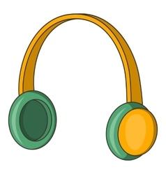 Protective headphones icon cartoon style vector