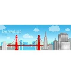 San Francisco flat Day view vector image