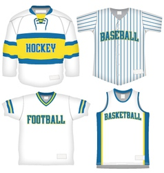 Set of sports uniforms vector