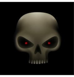 skull with red eyes vector image vector image
