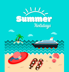 Summer holiday poster template vector