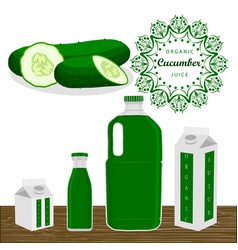 the theme cucumber vector image