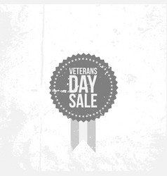 Vintage banner with veterans day sale text vector
