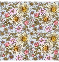 many flowers seamless vector image