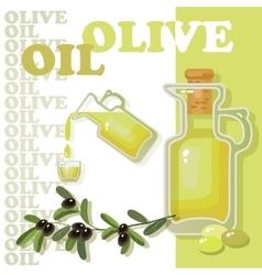 Glass bottle of premium virgin olive oil vector image