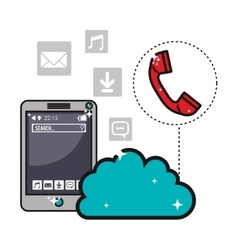 Smartphone and app icons image vector