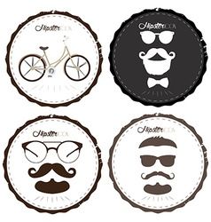 Set of hipster labels vector