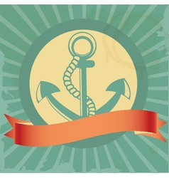 Vintage background with anchor vector