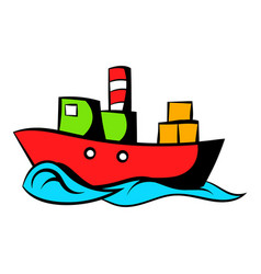 Dry cargo icon cartoon vector