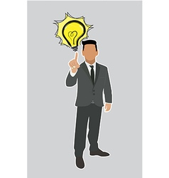 Businessman good ideas vector