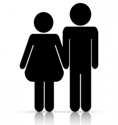 Male/female love symbol vector