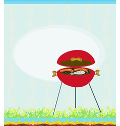 Barbecue Party Invitation vector image