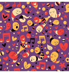 Fun party pattern vector