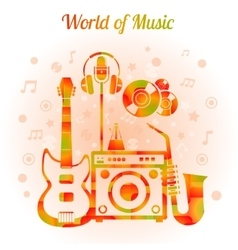 World of music color concept vector