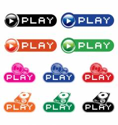 play icons vector image