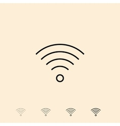 Icon of wireless connection vector