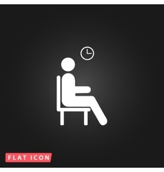 Waiting flat icon vector
