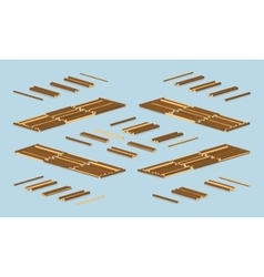 Timber floating on water vector