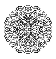 Contour mandala ethnic religious design element vector