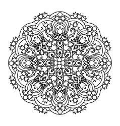 Contour mandala ethnic religious design element vector