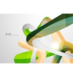 Swirl shape colorful line futuristic abstract vector