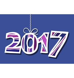 Happy new year 2017 blue background vector