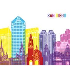 San diego skyline pop vector