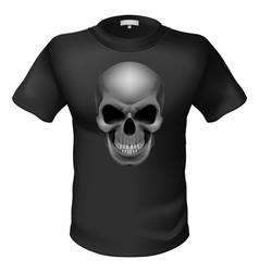 Black Tshirt vector image vector image