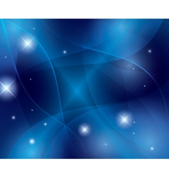 blue abstract futuristic wavy background vector image
