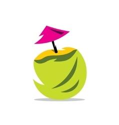 Coconut Cocktail Cartoon vector image vector image