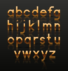 Decorative golden alphabet vector image