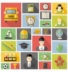 Education fla icon set vector