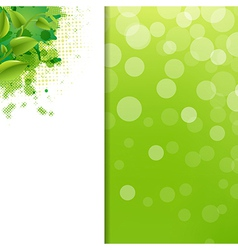 Green Eco Background With Blur And Blob vector image