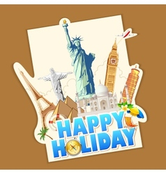 Happy Holiday vector image